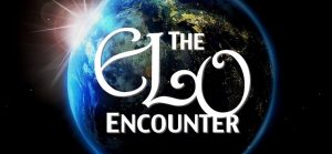 The Elo Encounter poster. An image of the world in the background with white writing ontop.