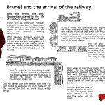 Brunel and the arrival of the railway information sheet