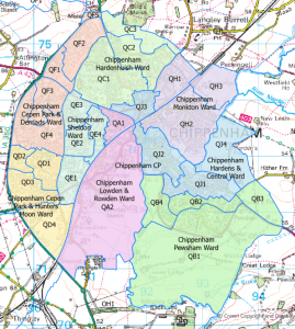 Map of wards within Chippenham