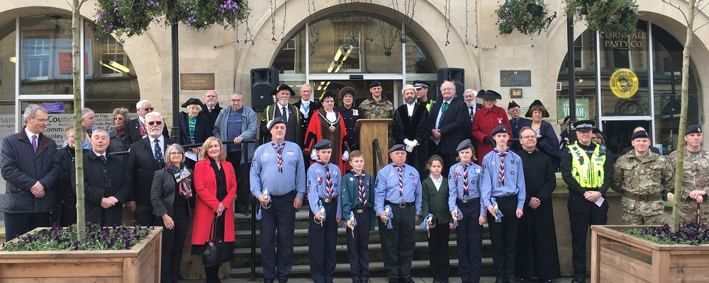 Commonwealth Day celebration outside Chippenham Town Hall