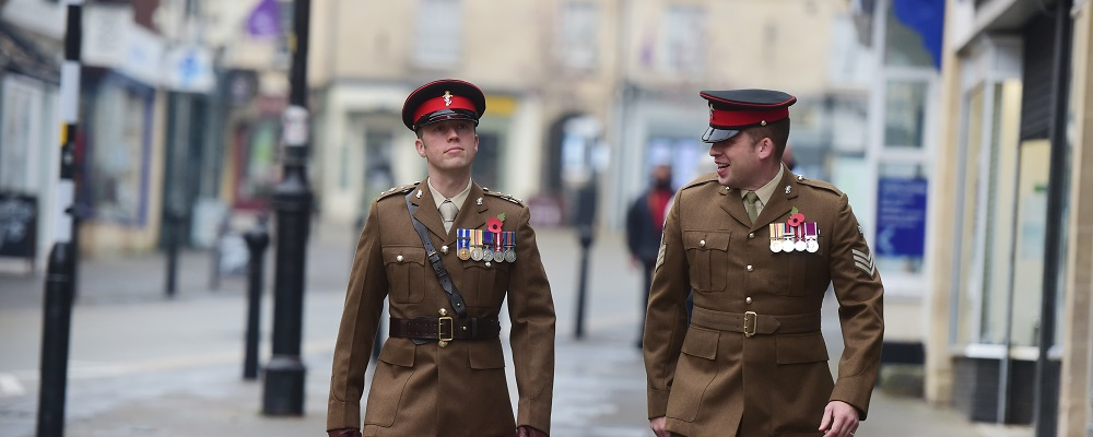 Two members of the local dignitary commemorating Remembrance Sunday