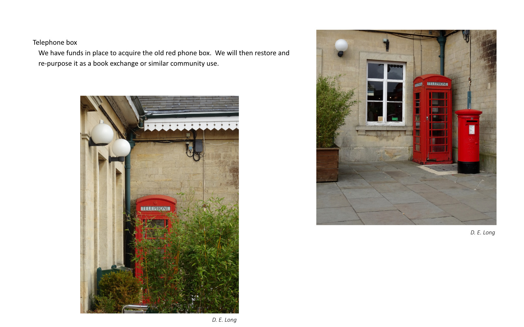 Current views of the red phone box