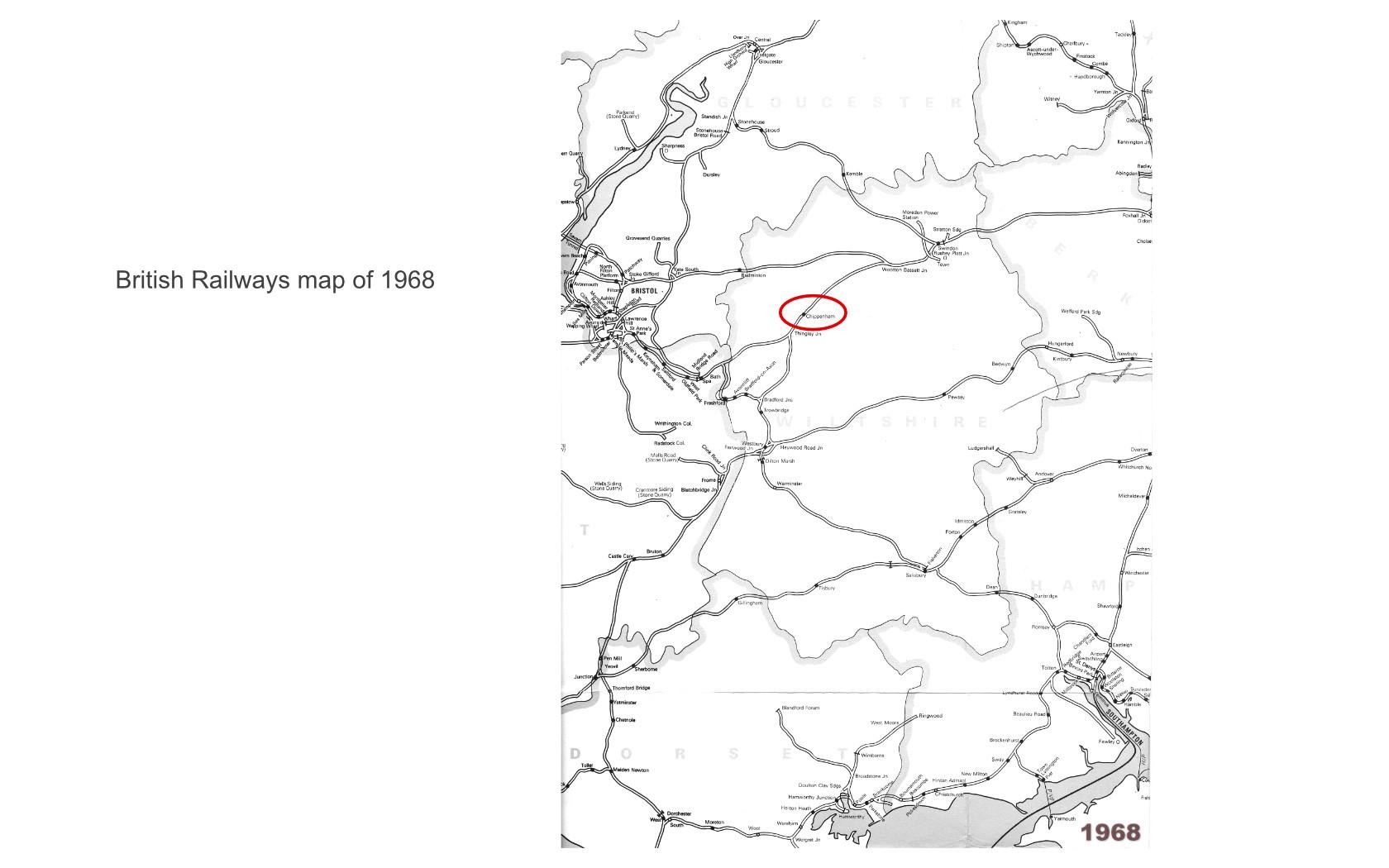 british railway map of 1968