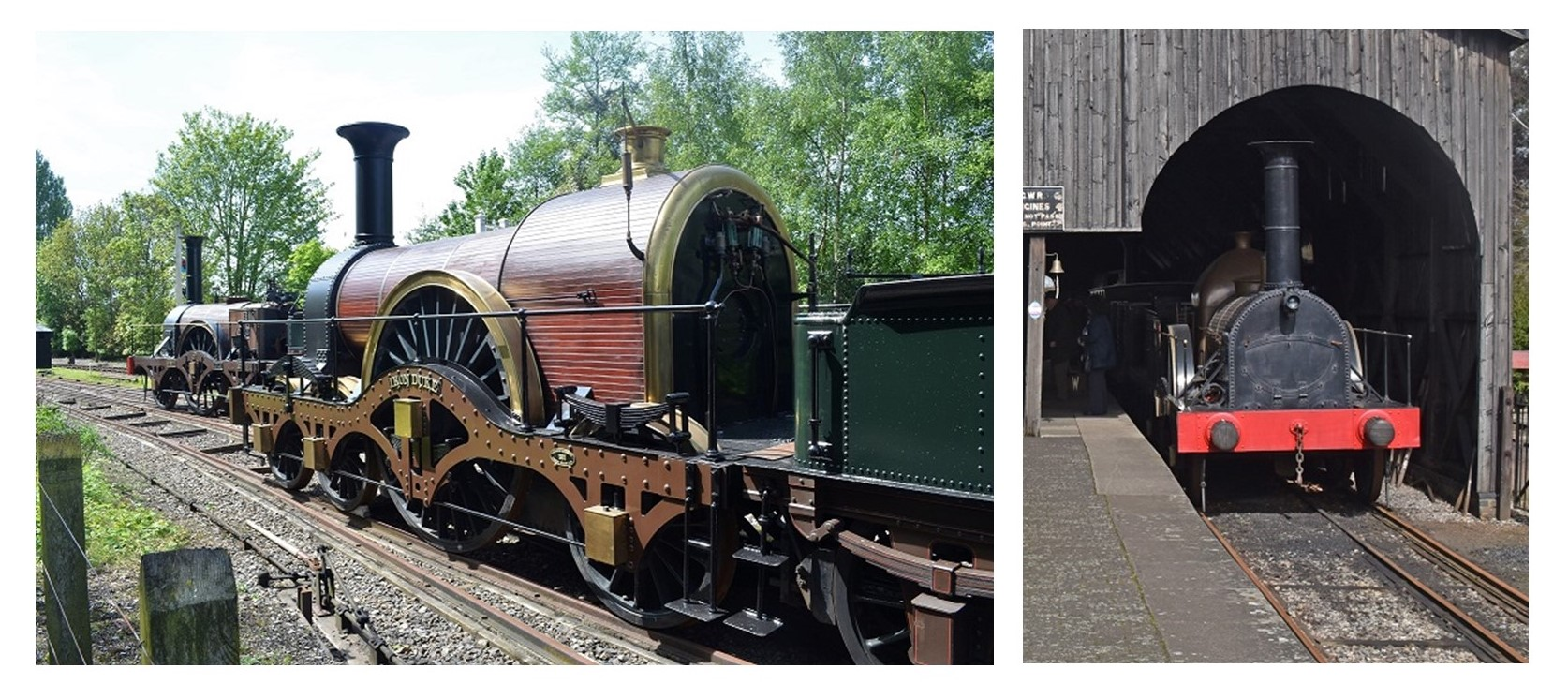 Two current photographs of broad gauge trains in use