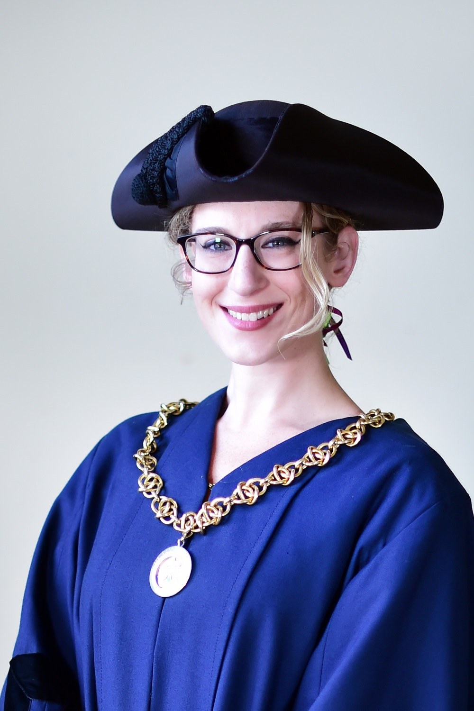 Councillor Liz Alstrom in Deputy mayoral robes