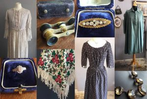 montage of vintage clothes and jewellery