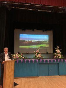 Guest speaker David Andrewws speaking at Purple Flag event