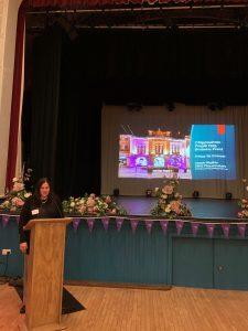 Guest speaker Sarah Walker speaking at Purple Flag event