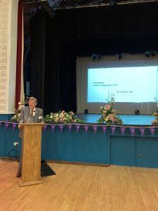 Guest speaker Trevor Barton speaking at Purple Flag event