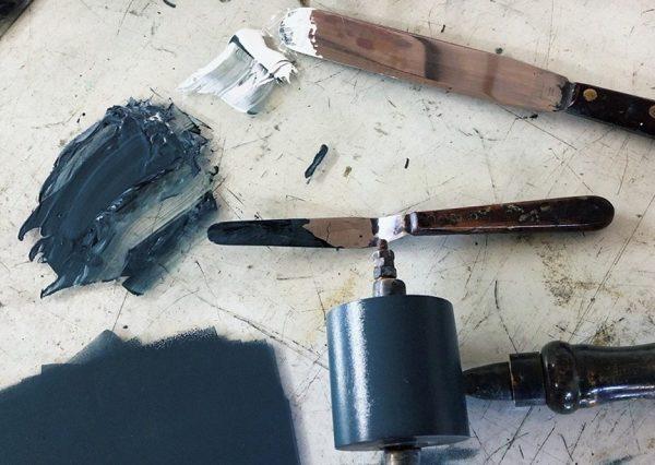printmaking equipment and ink